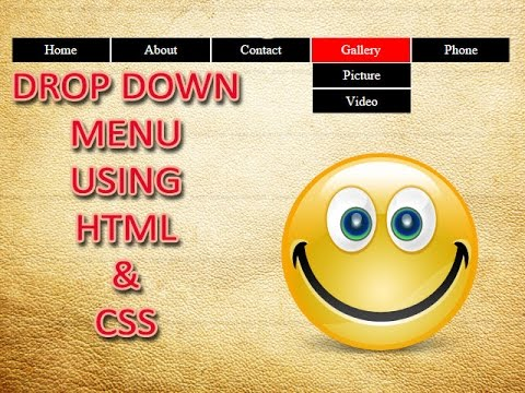 How to create a Dropdown Menu Using HTML and CSS. (English)