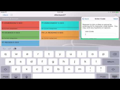 Joining Classes or Groups Manually Created in eBackpack