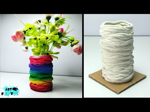 How To Make Beautiful Flower pot using Paper Clay | How to make flower pot