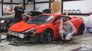 My Friend Tavarish Bought a WRECKED McLaren 675LT!