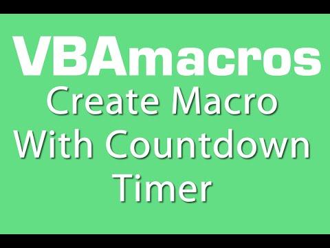 Create Macro With Countdown Timer - VBA Macros - Tutorial - MS Excel 2007, 2010