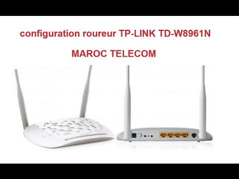 configuration routeur TP-LINK TD-W8961N MAROC TELECOM ضبط اعدادات روتور