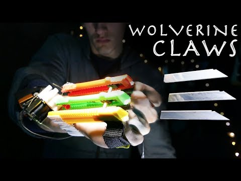 How To Make a Ejectable WOLVERINE CLAWS! - Shooting Blades!!! (Simple Build)