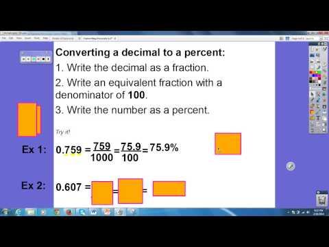 Converting Between Percents, Fractions, and Decimals