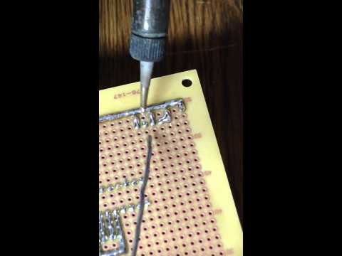 Solder-Bridge trace soldering technique