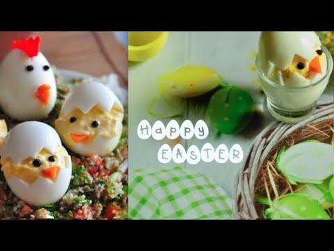 Devilled Easter Egg Chicks! Happy Easter | RecipesAreSimple