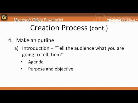 1.3.a PowerPoint 2007: Creation Process
