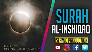 Beautiful Surah Al-Inshiqaaq translation with Hindi and English   Mishari Rashid Alafasy