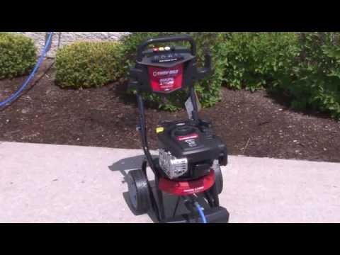Troy-Bilt® Pressure Washer Operation