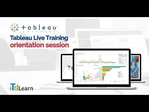 Tableau Live Training Orientation Session  -  iTeLearn