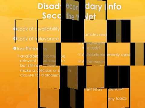 Primary v Secondary data