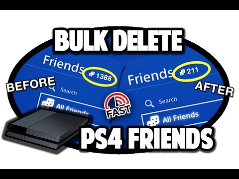 How to Bulk Delete PS4 Friends