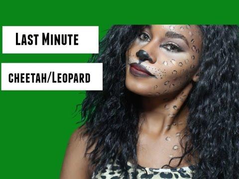 Sexy Cheetah/ Leopard  Halloween Makeup Tutorial | Last Minute |
