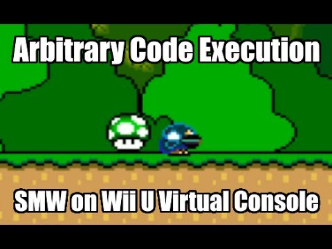 SMW on Wii U Virtual Console -- Executing Arbitrary Code for the First Time