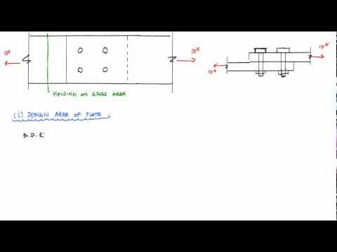 Lap Shear Connection Design Example - Mechanics of Materials