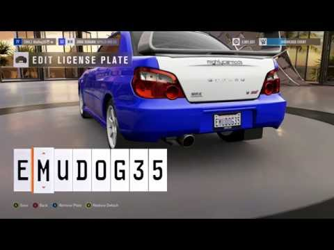 Forza Horizon 3 Profanity On Number Plate