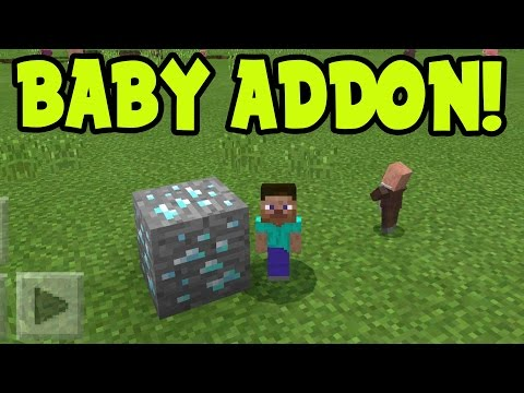 MINECRAFT PE 0.16.0 MINI BABY CHARACTER MODS // 0.16.0 ADDONS Minecraft PE (Pocket Ediiton)