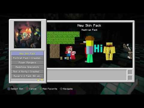 Minecraft ps3 modded skins backup v4