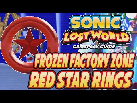 Sonic Lost World (Wii U) - Frozen Factory Zone Red Ring Locations (Guide)