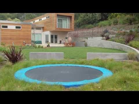 Backyard Trampoline Ideas - In-Ground Trampoline