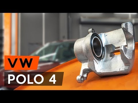 How to replacefront brake caliperonVW POLO 4 (9N3) [TUTORIAL AUTODOC]