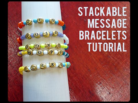 Make Bright Message Bracelets for Great Grad Gifts