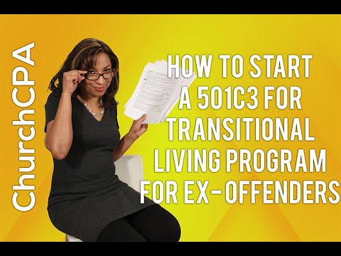 [How to Start a 501c3] Sample 501c3 for Transitional Living Program for Ex Offenders