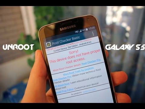 Unroot Galaxy S5 Without Odin & No Computer - How To