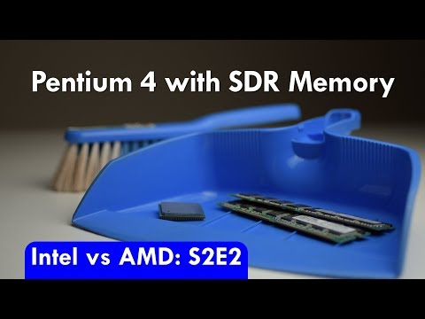 Intel vs AMD S2E2 Pentium 4 with SDR SDRAM