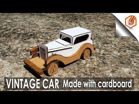 How to Make Amazing VINTAGE CAR from cardboard
