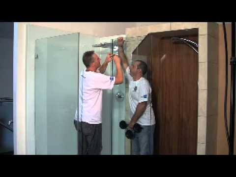 Example installation of a frameless shower enclosure.mov