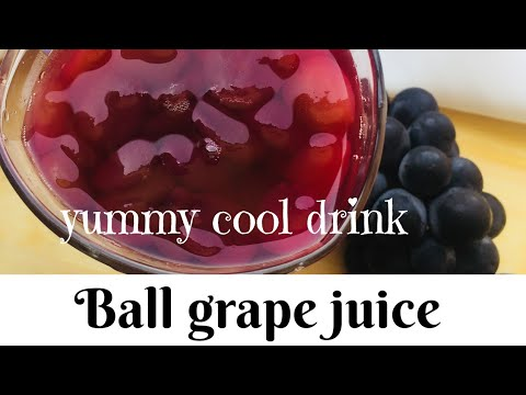 Ball Grapes Juice/grape Juice With Pulp/How To Make Ball Grapes Juice At Home