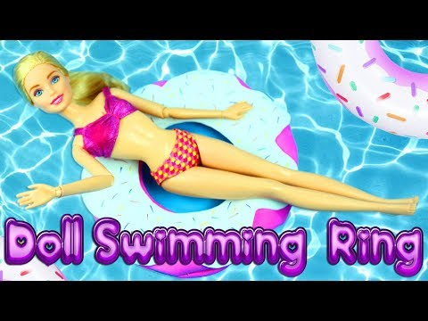 How to make a Doll Swimming Ring, Beach Donut, Floatie, Float, Lifesaver - EASY, CHEAP  AND FAST