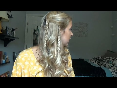 How to do pulled back hippie braids (DIY)
