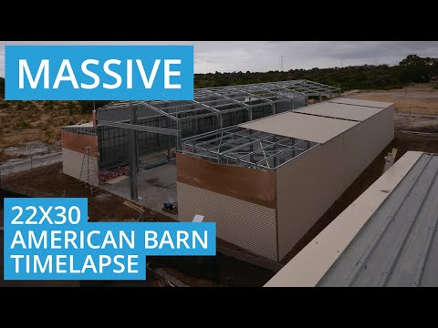 Massive American Barn Shed Time-lapse - Sheds Perth