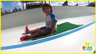 Kids Family Fun Trip to the Farm with Giant Slides and Animals!!!!