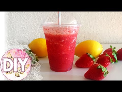 DIY SUMMER STRAWBERRY SLUSHIE