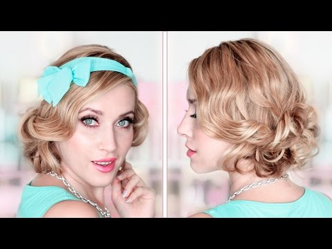 Party/prom/wedding updo ❤ CURLY BOB medium/long hair tutorial ❤ How to fake short hair