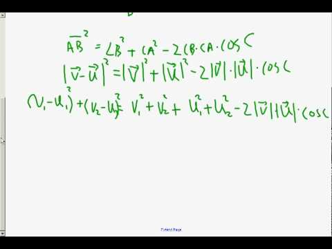 How to find the angle between two vectors? Ch12.4