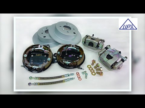Rear Drum Brake Upgrade to Individual disc brake with parking system. - Fiesta