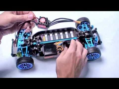 RC ADVENTURES -  BRUSHLESS TOURING DRIFT CAR PART 5  TAMIYA TT01 R  KIT CUSTOM KIT