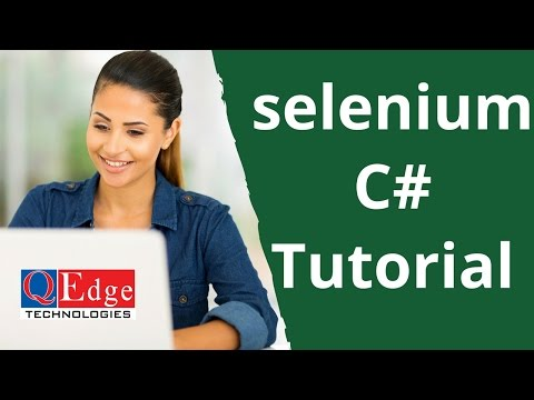 Selenium with C# Training | Selenium C Sharp Tutorial for Beginner