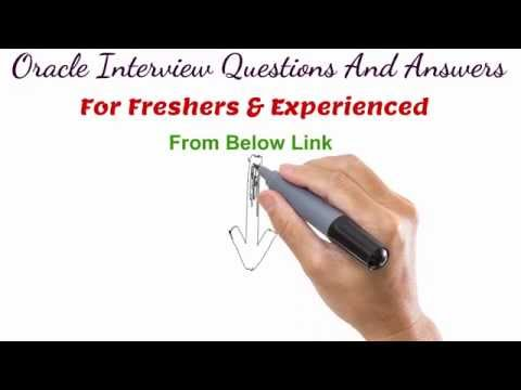 ORACLE Technical Interview Question And Answers