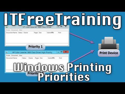 Windows Printing Priorities
