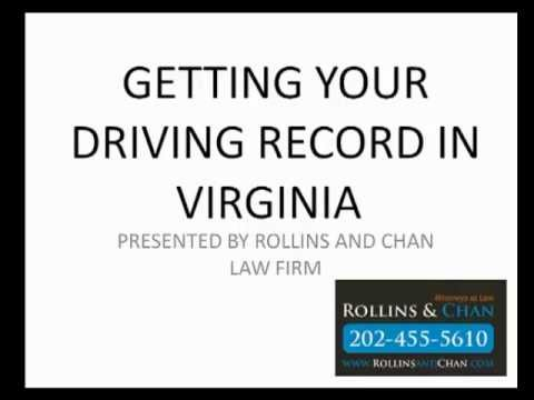 How to get my drivers record in Virginia