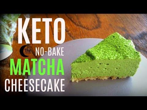 Keto Matcha Cheesecake | Low-Carb No-Bake Cheesecake Recipe | Sugar-Free Matcha Cheesecake