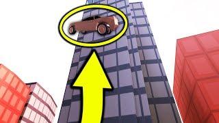 (New) SECRET FLYING CAR GLITCH IN JAILBREAK!! (Roblox)