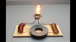 free energy generator device with magnet & dc motor _