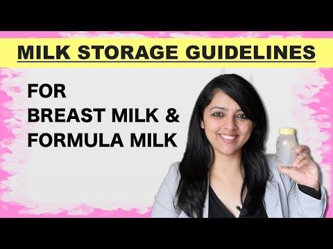 MILK STORAGE GUIDELINES    FOR BREAST MILK & FORMULA MILK
