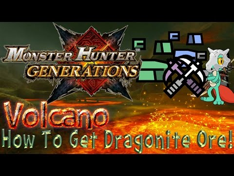 Monster Hunter Generations: Mining Guild - Volcano (How to Get Dragonite Ore & Firestone!)